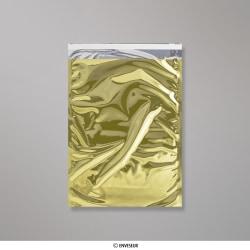 324x229 mm (C4) Gold Glänzend Folien-Briefumschlag, Gold, Haftklebend - Verschluss