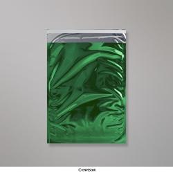 324x229 mm (C4) Busta in Lamina Metallica Lucida Verde, Verde, Con autoadesivo protetto da strip