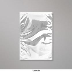 324x229 mm (C4) Busta in Lamina Metallica Lucida Argento, Argento, Con strip adesivo