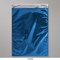 450x320 mm (C3) Sachet Alu Métallisé Brillant Bleu, Bleu, Auto-adhésive avec Bande Détachable