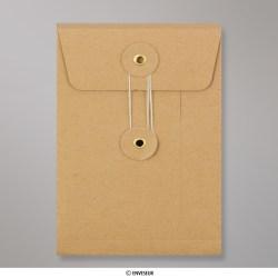 162x114x25 mm Geer Manilla Envelop met Japanse Sluiting
