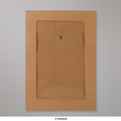 229x162 mm (C5) String & Washer Manilla Envelope Full Window