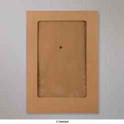 229x162x25 mm Vol Venster Manilla Envelop met Japanse Sluiting