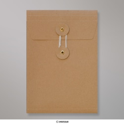 229x162x25 mm (C5) String & Washer Manilla Gusset Envelope