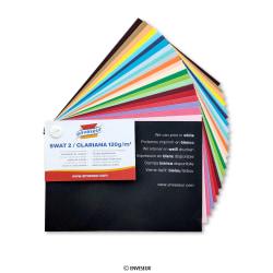 Farebné papierové obálky - Clariana 120gm2 - vzorkovník