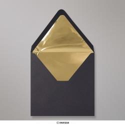 160x160 mm Zwart Enveloppen Met Goudkleurig Folie Aan Binnenzijde