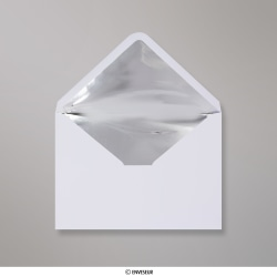 162x229 mm (C5) envelope branco forrado + papel de prata