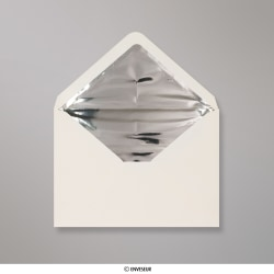 Zilverkleurig folie aan binnenzijde