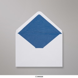 114x162 mm (C6) envelope branco forrado + papel fancy azul