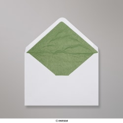 114x162 mm (C6) envelope branco forrado + papel fancy verde