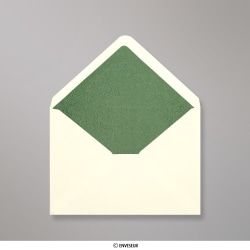 114x162 mm (C6) envelope marfim forrado + papel fancy verde