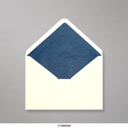 82x113 mm (C7) Ivoorwitte enveloppen met blauw fantasiepapier aan binnenzijde