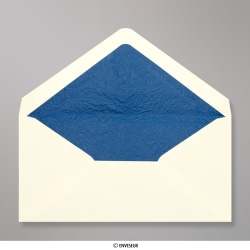110x220 mm (DL) envelope marfim forrado + papel fancy azul