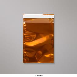 Bolsa naranja translúcida de 162x114mm (C6), Naranja, Autoadhesivo
