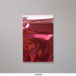 162x114 mm (C6) Rot Transparent Folienumschlag, Rot, Haftklebend - Verschluss