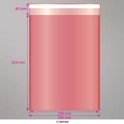 324x230 mm (C4) Rood doorschijnende zak