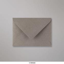 82x113 mm (C7) Enveloppe Grise, Grise, Gommée