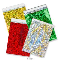 Bolsas em folha de prata holográficas