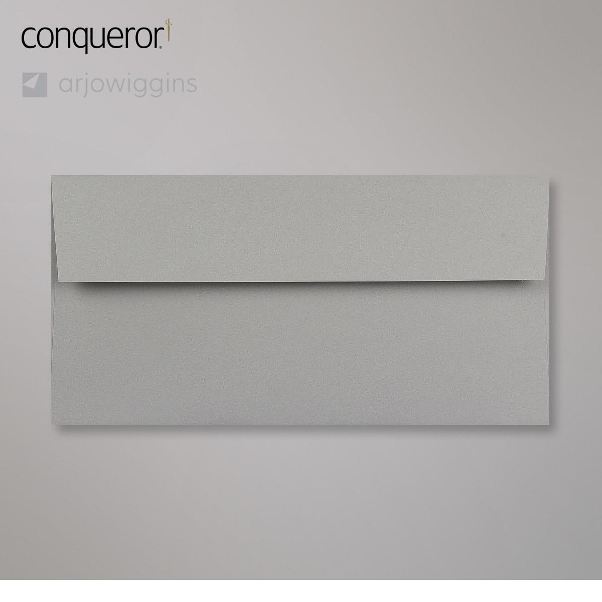 Enveloppe Conqueror velin gris foncé béton 110x220 mm (DL)