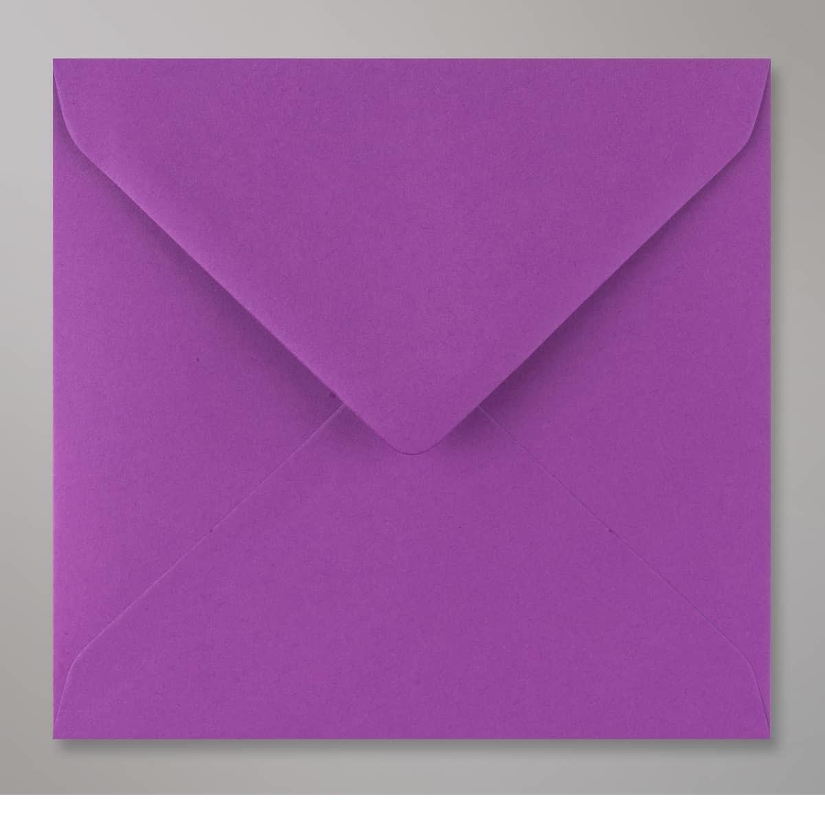 Enveloppe violette 155x155 mm