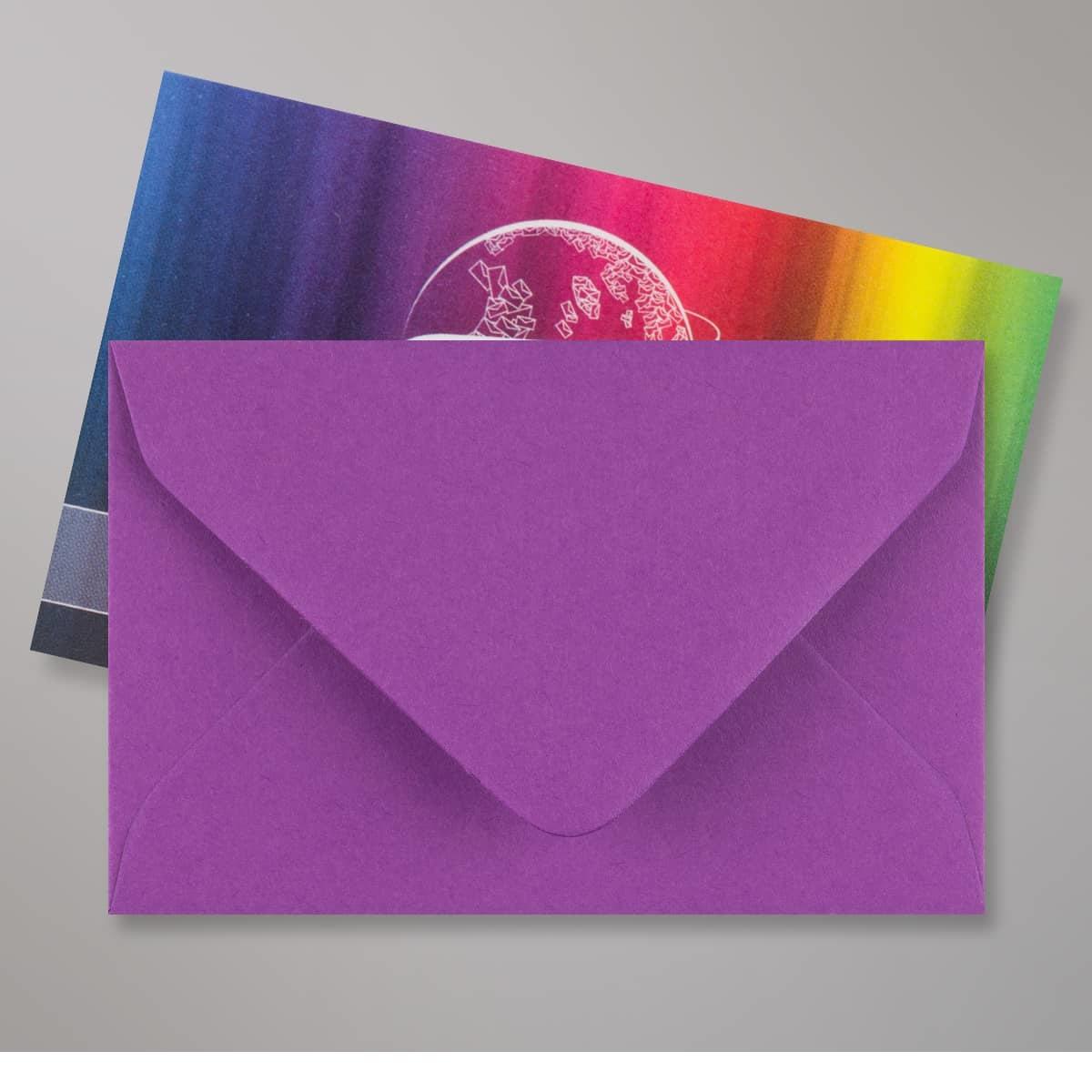 Enveloppe violette 62x94 mm