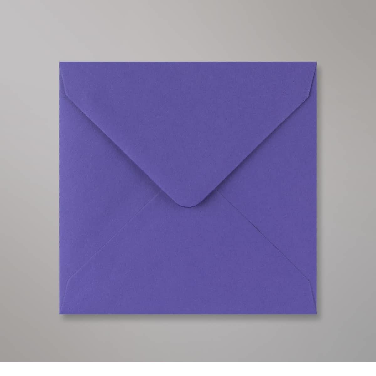 Enveloppe bleue iris 130x130 mm