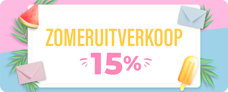 10% korting op bestellingen boven de €50. Code: SUN10
