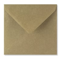 RIBBED KRAFT 155mm SQUARE ENVELOPES