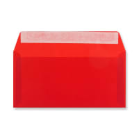 DL RED TRANSLUCENT ENVELOPES