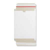 WHITE 230x165x15mm BOX MAILER WITH RIPPER STRIP