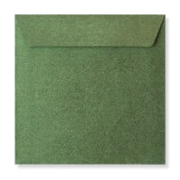 130 X 130MM FOREST GREEN TEXTURED ENVELOPES