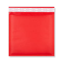 165MM SQUARE RED PADDED BUBBLE ENVELOPES