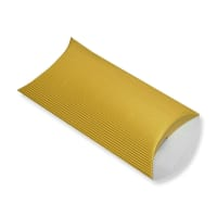 162 x 114 + 30MM C6 GOLD CORRUGATED PILLOW BOXES