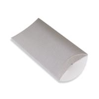 162 x 114 + 30MM C6 SILVER CORRUGATED PILLOW BOXES