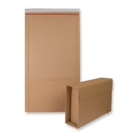 325 x 250 x 80mm MANILLA BOOK WRAP MAILERS