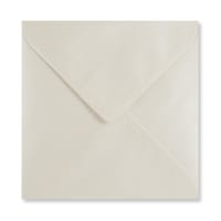 PEARLESCENT OYSTER WHITE 155mm SQUARE ENVELOPES