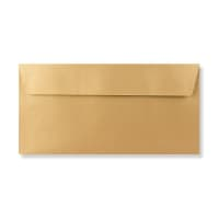DL METALLIC GOLD PEEL AND SEAL ENVELOPES 120GSM
