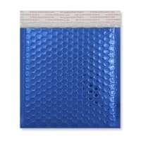165MM SQUARE GLOSS METALLIC BLUE PADDED ENVELOPES