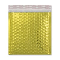 165MM SQUARE GLOSS METALLIC GOLD PADDED ENVELOPES