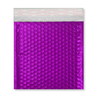 165MM SQUARE GLOSS METALLIC PURPLE PADDED ENVELOPES