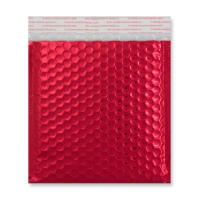 165MM SQUARE GLOSS METALLIC RED PADDED ENVELOPES