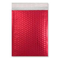 C5 + GLOSS METALLIC RED PADDED ENVELOPES (250 x 180MM)