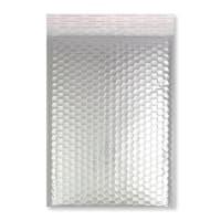 C4 GLOSS METALLIC SILVER PADDED ENVELOPES (324 x 230MM)