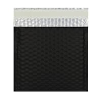 165MM SQUARE MATT METALLIC BLACK PADDED ENVELOPES