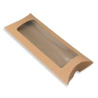 220 x 110 + 35MM DL MANILLA KRAFT WINDOW PILLOW BOXES