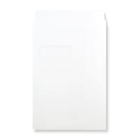 C4 WHITE WINDOW 180GSM PEEL AND SEAL ENVELOPES