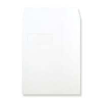 330 x 248mm WHITE WINDOW 180GSM PEEL AND SEAL ENVELOPES