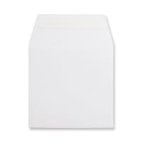 WHITE 125mm SQUARE 180GSM PEEL AND SEAL ENVELOPES