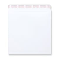 WHITE 280mm SQUARE 180GSM PEEL AND SEAL ENVELOPES