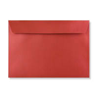 C5 CARDINAL RED PEARLESCENT ENVELOPES